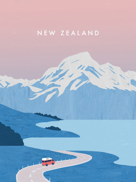 Neuseeland Poster