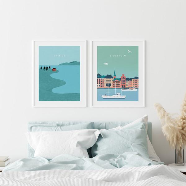 Schweden Poster Set
