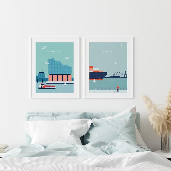 Hamburg Poster Set