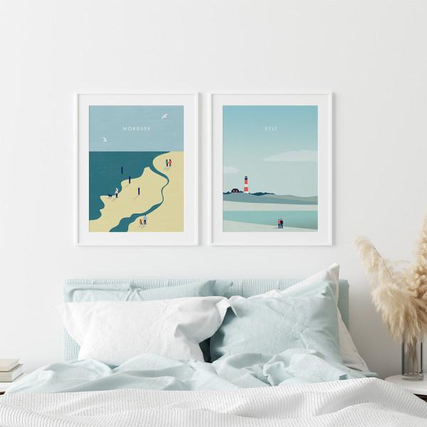 Nordsee Sylt Poster Set